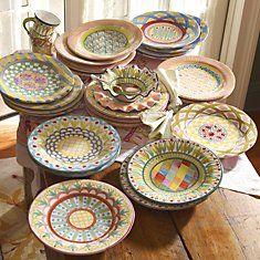 MacKenzie Childs Plates