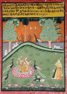 Gaurmalar Ragini of Megh.    Creation Date: ca. 1720.    Edwin Binney 3rd   Collection: The San Diego Museum of Art