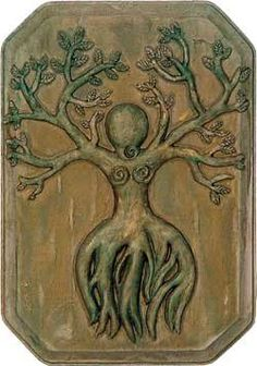 "✯ Nature Goddess Wall Plaque - This amazing plaque represents the Tree Goddess, or Earth Goddess ""Gaia"".✯"