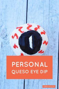 Personal Queso Eye Dip Recipe | ItsReallyKita.com
