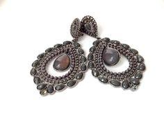 ORECCHINI CLIP ANNI 80 grigio gioielli vintage di ERYCOLLECTION, $23.00
