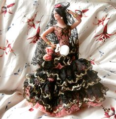 Souvenir Spanish Doll in lace pink and by SchoolOfButterflies