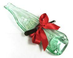 Vintage Bottle of Coca Cola, Kiln fused Glass Spoon Rest or Serving Dish / Upcylced Glass Bottle on Etsy, $19.99