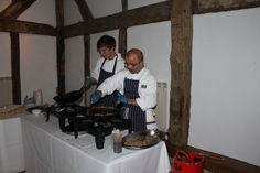 Mongolian Buffet at my wedding at Loseley Park in Godalming, Surrey.