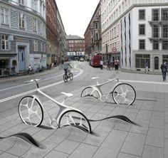 bike parking, looks awesome!