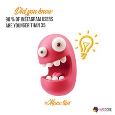 The fact that 90% of Instagram users are younger than 35 makes Instagram an ideal platform for boosting your business for young adults.  Phone: +961 1 485 494Mobile: +961 3 938 654 (24/7 availability) Website: nascode.com  #business #platform #instagram #youngadults #didyouknow #manotips #Insta #socialmedia #boost #ideal #ads Young Adults, Instagram Users, Platform, Facts, Social Media, Website, Phone, Business, Projects