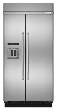 Kitchenaid Refrigerator White kitchenaid - 20.0 cu. ft. counter-depth french door refrigerator