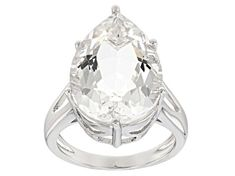 """Have you seen the latest at JTV? Discover this gorgeous Pre-Owned White Herkimer """"Diamond"""" Quartz Rhodium Over Silver Ring Shop today to get a great deal! Diamond Quartz, Herkimer Diamond, Quartz Crystal, Broken Chain, Types Of Rings, Gemstone Jewelry, Sterling Silver Rings, Solitaire Ring, Gemstones"""