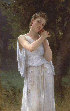 The Earrings by William-Adolphe Bouguereau