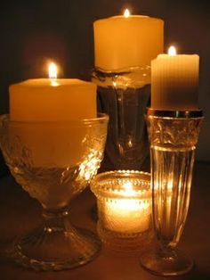 .candles aglow.               t