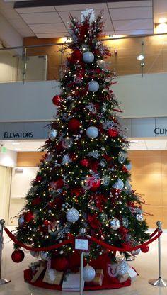 University of Utah Hospital lobby tree 2013 Christmas Trees, Christmas Decorations, Holiday Decor, University Of Utah, Salt, Home Decor, Xmas Trees, Decoration Home, Room Decor