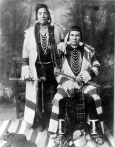 Alec Hayes and Charley Mocton :: National Park Service (NPS) Nez Perce Historic Images Collection