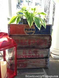 Vintage soda crate p