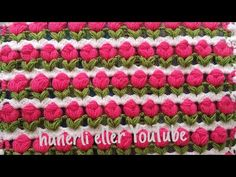 Crochet Stitches Patterns, Embroidery Stitches, Stitch Patterns, Sewing Projects For Beginners, Crochet Scarves, Crotchet, Make It Yourself, Crafty, Blanket