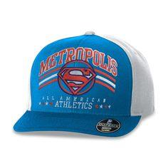 Boné Aba Reta Superman Metropolis All American Athletics #Superman #DCComics #LojaDCComics #Bone #bandUPStore