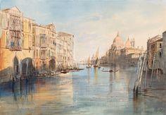 Edward Lear | 1812-1888 | The Grand Canal with Santa Maria della Salute, Venice…