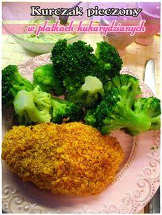 Kurczak pieczony w płatkach kukurydzianych  #kurczak #obiad