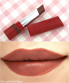 "Rimmel London The Only 1 Matte Lipstick in ""750 Look Who's Talking"": Review and Swatches"