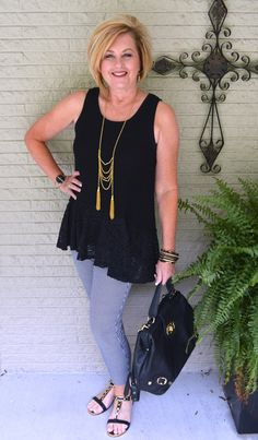 50 IS NOT OLD | BLACK & GOLD STYLE | Gingham Check | Ankle Pants | Clothes…