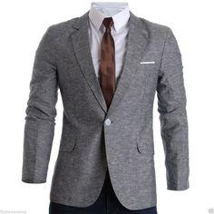 FLATSEVEN Mens Slim Fit Linen Stylish Casual Blazer Jacket (BJ205) #FLATSEVEN #Blazer
