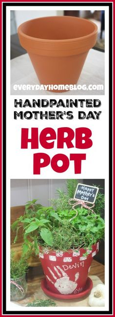 Mother's Day Painted Herb Pot | The Everyday Home