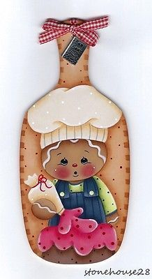 Hp-Pan-de-Jengibre-Nino-Chef-Mini-Protoboard-con-encanto-Nevera-Iman Gingerbread Ornaments, Gingerbread Decorations, Gingerbread Man, Christmas Ornaments, Christmas Wood, Primitive Christmas, Christmas Projects, Holiday Crafts, Tole Painting