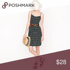 JCREW Shoreline Stripe Dress Worn once - perfect for summer! Rayon/linen.  Machine wash. J. Crew Dresses Mini