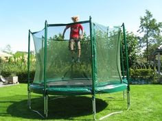 Trampolines are a fun way to excercise & get your kids outside. Getting one for Xan this summer :-)
