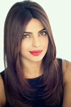 """Bollywood actress Priyanka Chopra, who has bagged a role in the American show """"Quantico"""", is taking dialect training for it. Medium Hair Styles, Short Hair Styles, Hair Styles Long Layers, Straight Hairstyles, Cool Hairstyles, Hairstyles 2016, Woman Hairstyles, Haircuts For Long Hair, Long Layered Hair"""