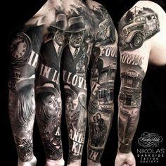 A full sleeve by Nikolas...