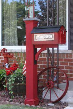Barn Red Mail Post Mailbox Barns Drop Box