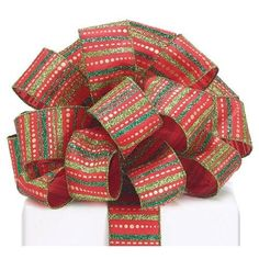 Glitter Stripes Ribbon: Red and Green Yards) Christmas Themes, Christmas Decorations, Grinch Stole Christmas, Wreath Supplies, Tiger Stripes, Green Glitter, Red Green, Red And White, Ribbon