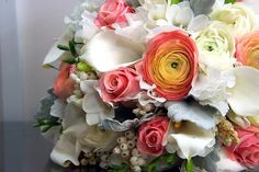 Rose and calla lily bouquet.