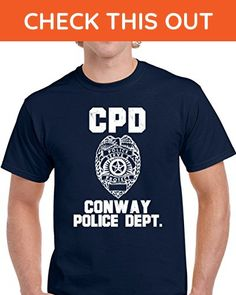 Conway Police Department Dept CPD officer Inspired Custom City Unisex T-shirt M Navy - Careers professions shirts (*Amazon Partner-Link)