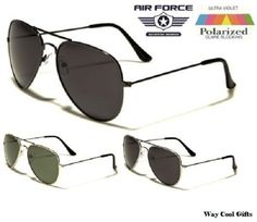 Air Force Vintage Aviator Polarized Sunglasses for Men  100% UV Protection #AirForce #Aviator