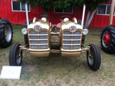 cool..Double Ford gold tractor