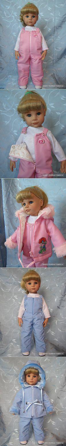 Розовый или голубой?! Зимний комплект для кукол Готц / Одежда и обувь для кукол - своими руками и не только / Бэйбики. Куклы фото. Одежда для кукол