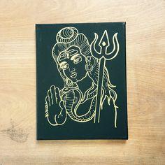 Shiva Screen Print Hindu Art Hindu Deity Yoga Art
