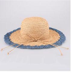 Simple bow floppy sun hat for lady beach hats summer wear