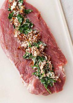 Mediterranean Stuffed Balsamic and Herb Pork Loin #PinkPork More