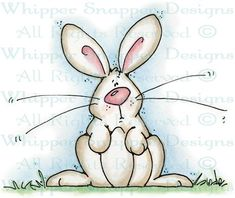 Ronnie Rabbit - Rabbits - Animals - Rubber Stamps - Shop