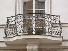 I am getting ideas for a balcony off of the master bedroom. French doors are a must.