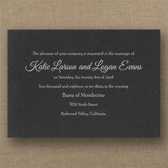 invitationsforless> Timeless Sophistication - Classic Invitation - Black MM604832516