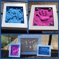 DIY Easy To Make Sand Imprints - Find Fun Art Projects to Do at Home and Arts and Crafts Ideas