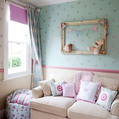 Girls bedroom seating area   Take a tour of this 19th Century Victorian villa   housetohome.co.uk