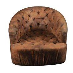 Low Button Swivel Chair - $2,759 on Chairish.com