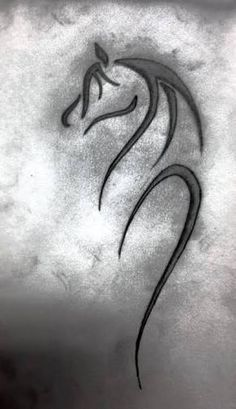 Image result for abstract horse tattoo