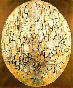Oval Composition (Trees), 1913 by Piet Mondrian