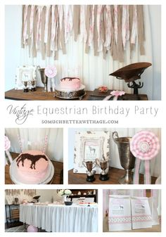 Vintage Equestrian Birthday Party | So Much Better With Age