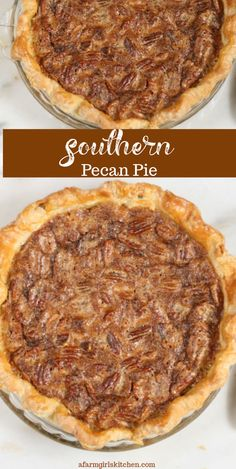 Southern Pecan Pie Homemade Pecan Pie is easy to make with simple ingredients. This traditional Southern pecan pie recipe is straight from my grandma's kitchen. Old Fashioned Pecan Pie Recipe, Best Pecan Pie Recipe, Homemade Pecan Pie, Vegan Pecan Pie, Bourbon Pecan Pie, Southern Pecan Pie Recipe, Easy Pecan Pie, Simple Pecan Pie Recipe, Peacon Pie Recipe